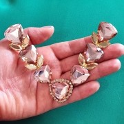 Cabedal Luxo V - Pedras de Trillion (Rosê)