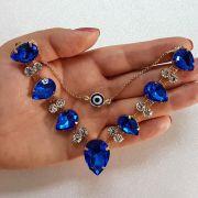 Cabedal Similar V - Gotas de Chuva OG (Azul Royal)