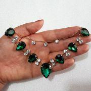 Cabedal Similar V - Gotas de Chuva (Verde)
