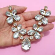 Cabedal Similar V - Joia Chaton Strass (Cristal)