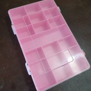 Caixa Organizadora 21 Divisórias (Rosa)