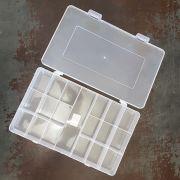 Caixa Organizadora 19 Divisórias (Transparente)