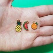 Conjunto Pingentes Metal Salada de Frutas 21mm (Dourado)