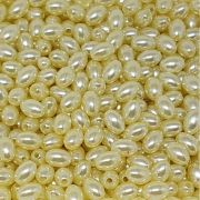 Pérola Oval ABS 6mm 100g (Creme)