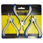 Kit Alicates Precision (Corte, Redondo e Reto)