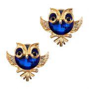 Piercing Luxo Coruja Barrigudinha (Azul Royal)