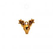 Pingente Metal Rena 15mm (Dourado)