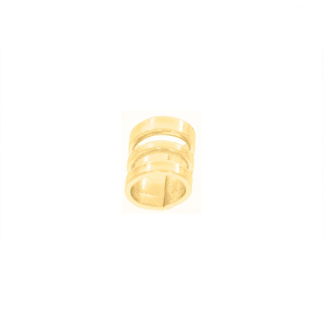 Argola Montagem Chata Vazada 4mm (Dourado)