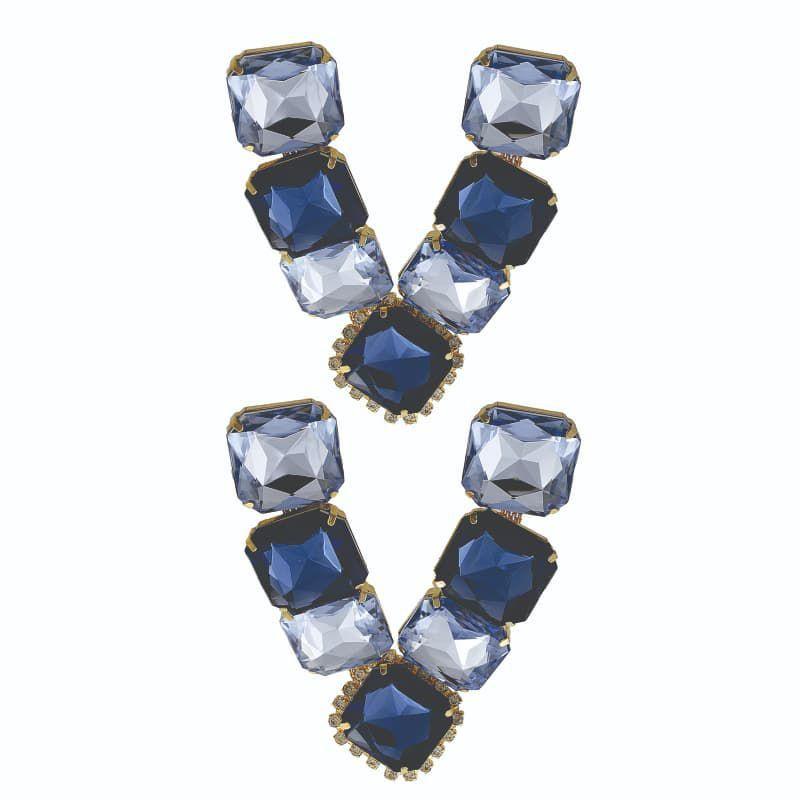 Cabedal Folheado V - Pastilha (Azul Marinho)