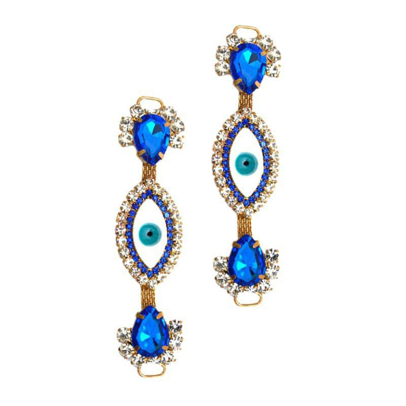 Cabedal I - Olho Grego (Azul Royal)