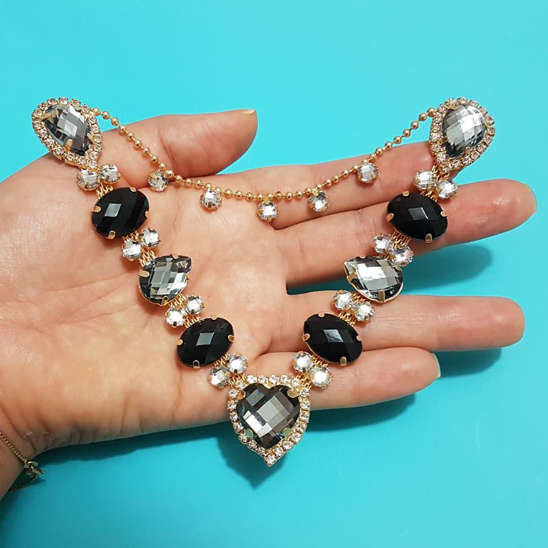 Cabedal Luxo V - Coração de Pedra (Preto)