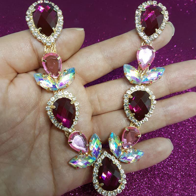 Cabedal Luxo V - Iara Mesclado (Pink e Rosa)