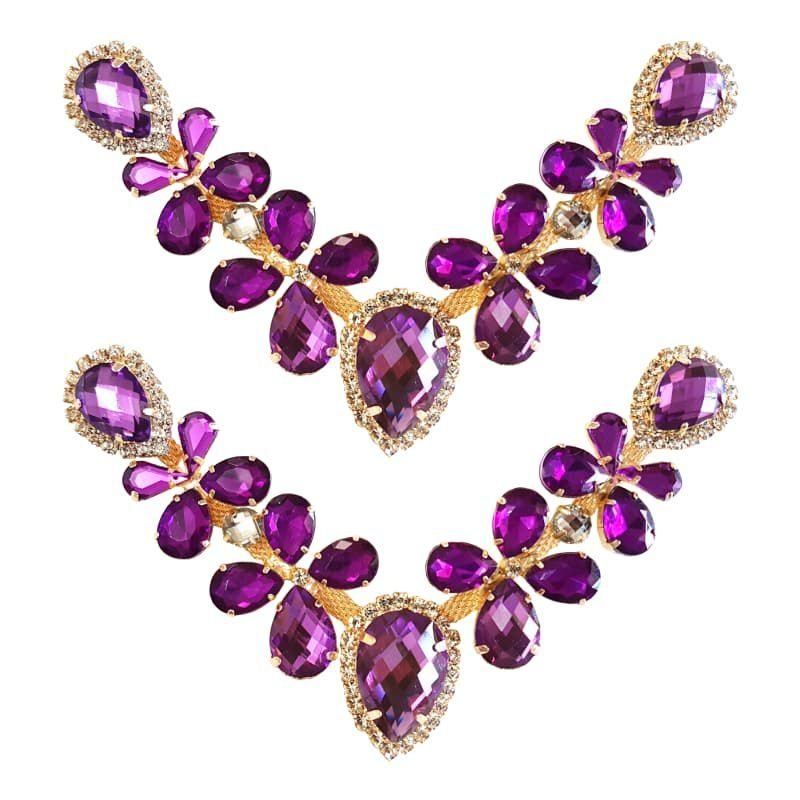 Cabedal Luxo V - Joia Chaton (Roxo)