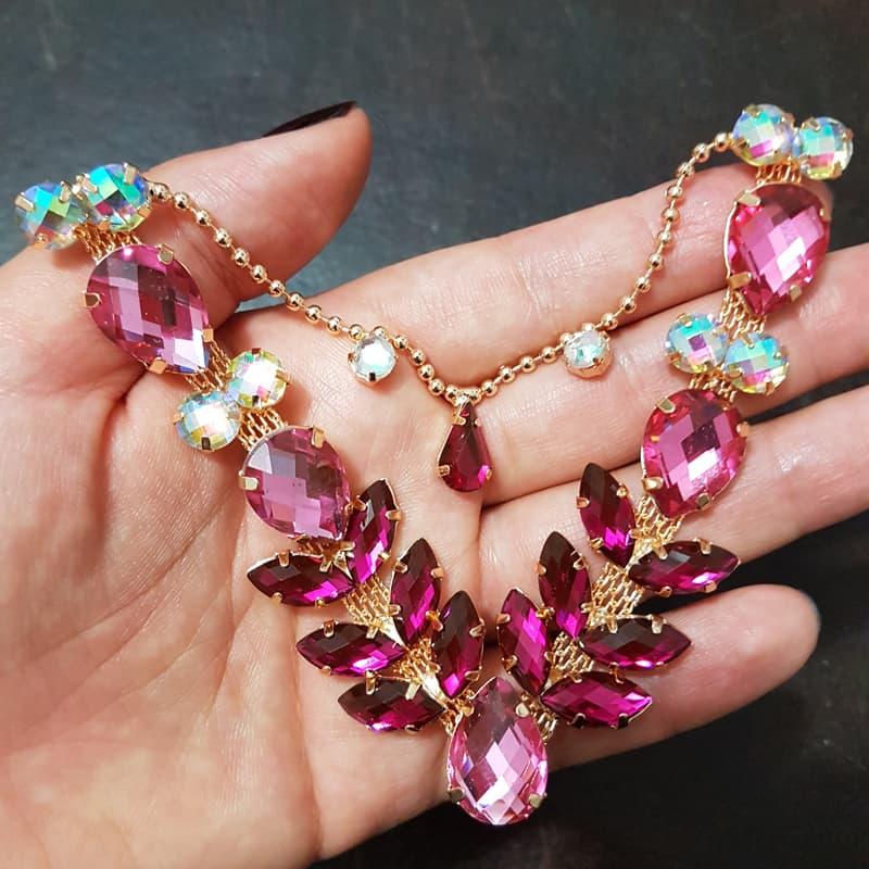 Cabedal Luxo V - Siren Mesclado (Rosa e Pink)