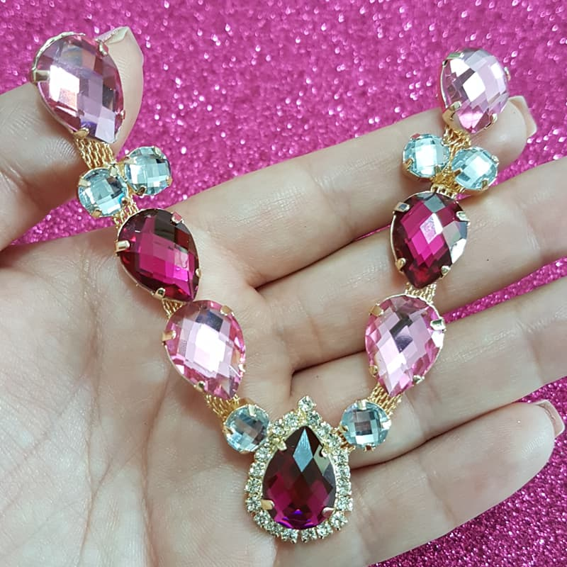 Cabedal Luxo V - Unicórnio Mesclado (Pink e Rosa)