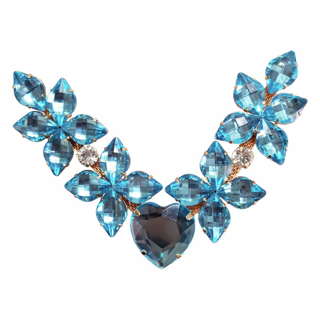 Cabedal Preciosa V - Estrelado do Amor (Azul Água Doce)