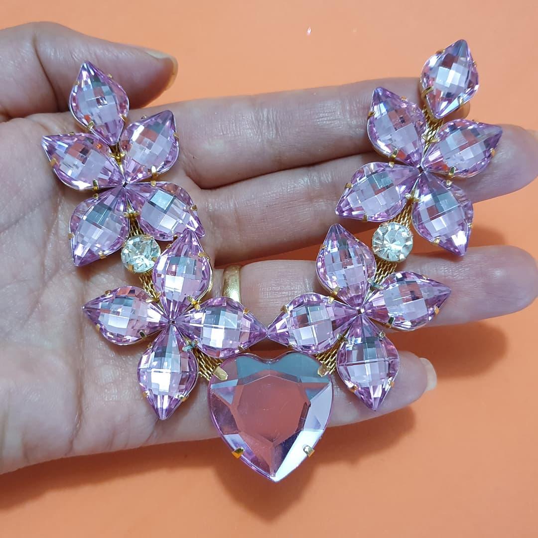 Cabedal Preciosa V - Estrelado do Amor (Rosa Transparente)