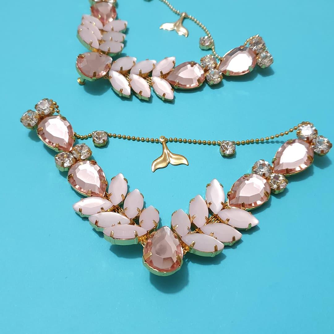 Cabedal Preciosa V - Siren Mesclado (Rosê e Rosê Jateado)