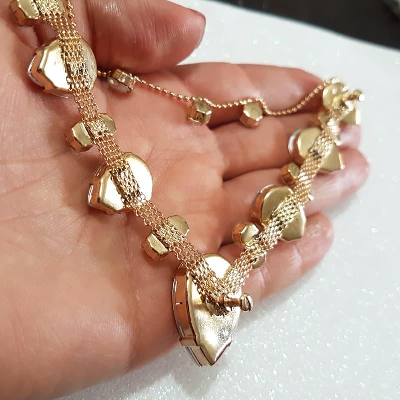 Cabedal Similar V - Gotas de Chuva (Dourado)
