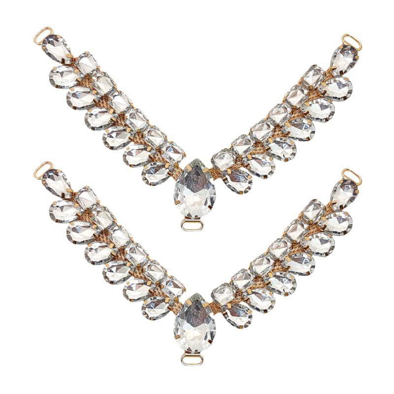 Cabedal V - Gotas de Vidro (Cristal)