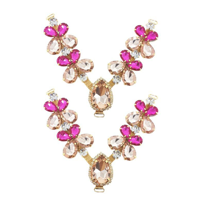 Cabedal V - Joia Chaton Mesclado (Rosa e Pink)