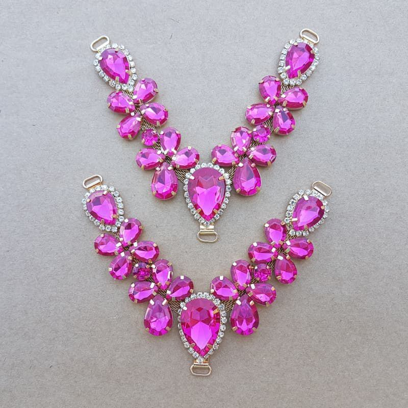 Cabedal V - Joia Chaton (Pink)