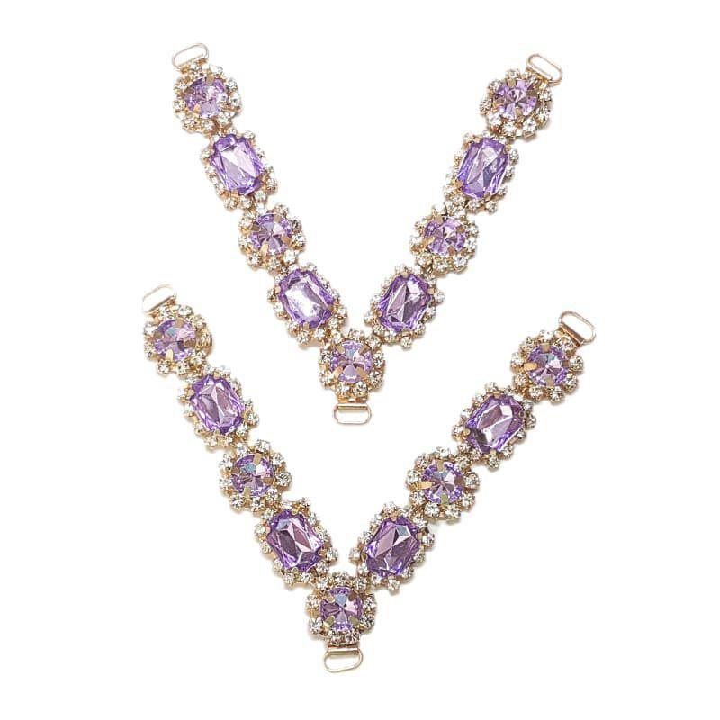 Cabedal V - Princesinha Cristal (Lilás)