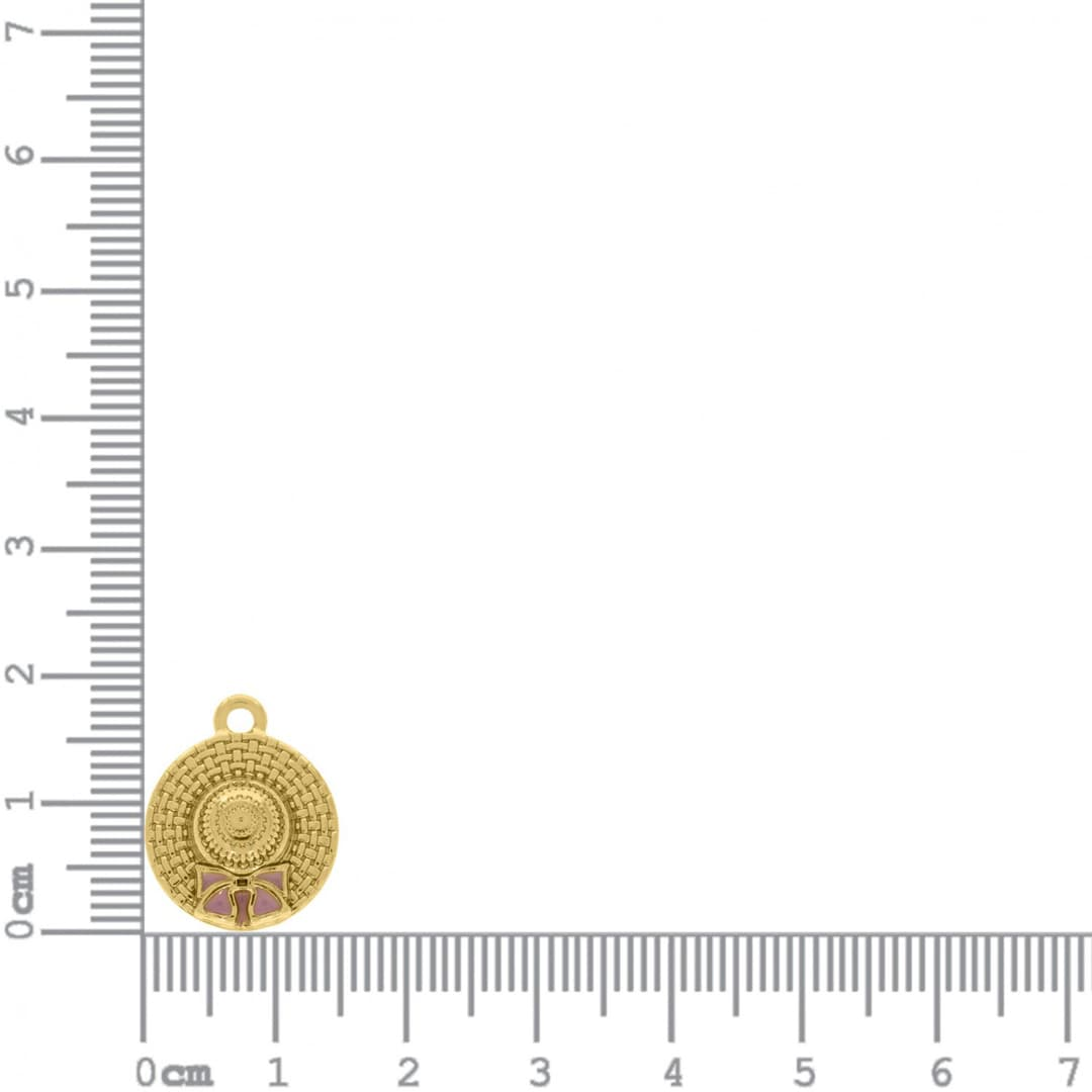 Conjunto Pingentes Metal Praia 18mm (Dourado)
