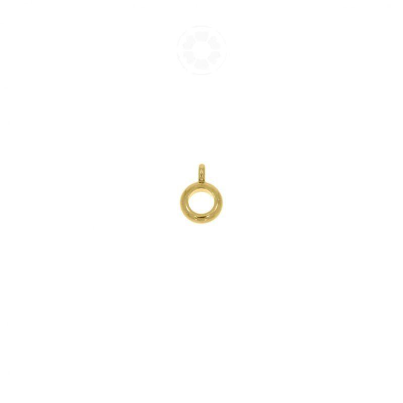 Entremeio Metal Argola Com Saída 8mm (Dourado)