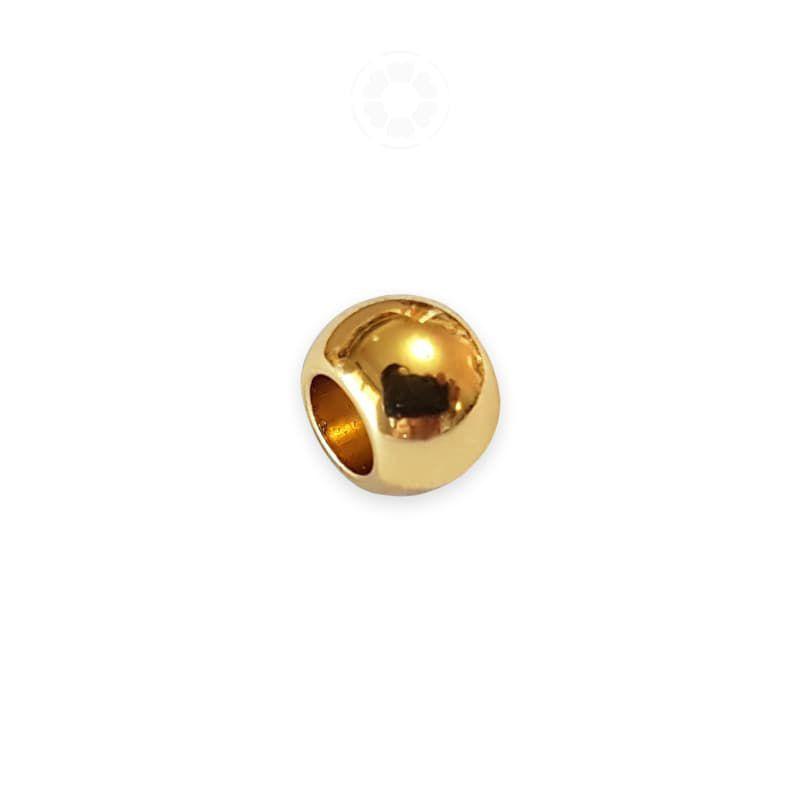 Entremeio Metal Circular 8mm (Dourado)