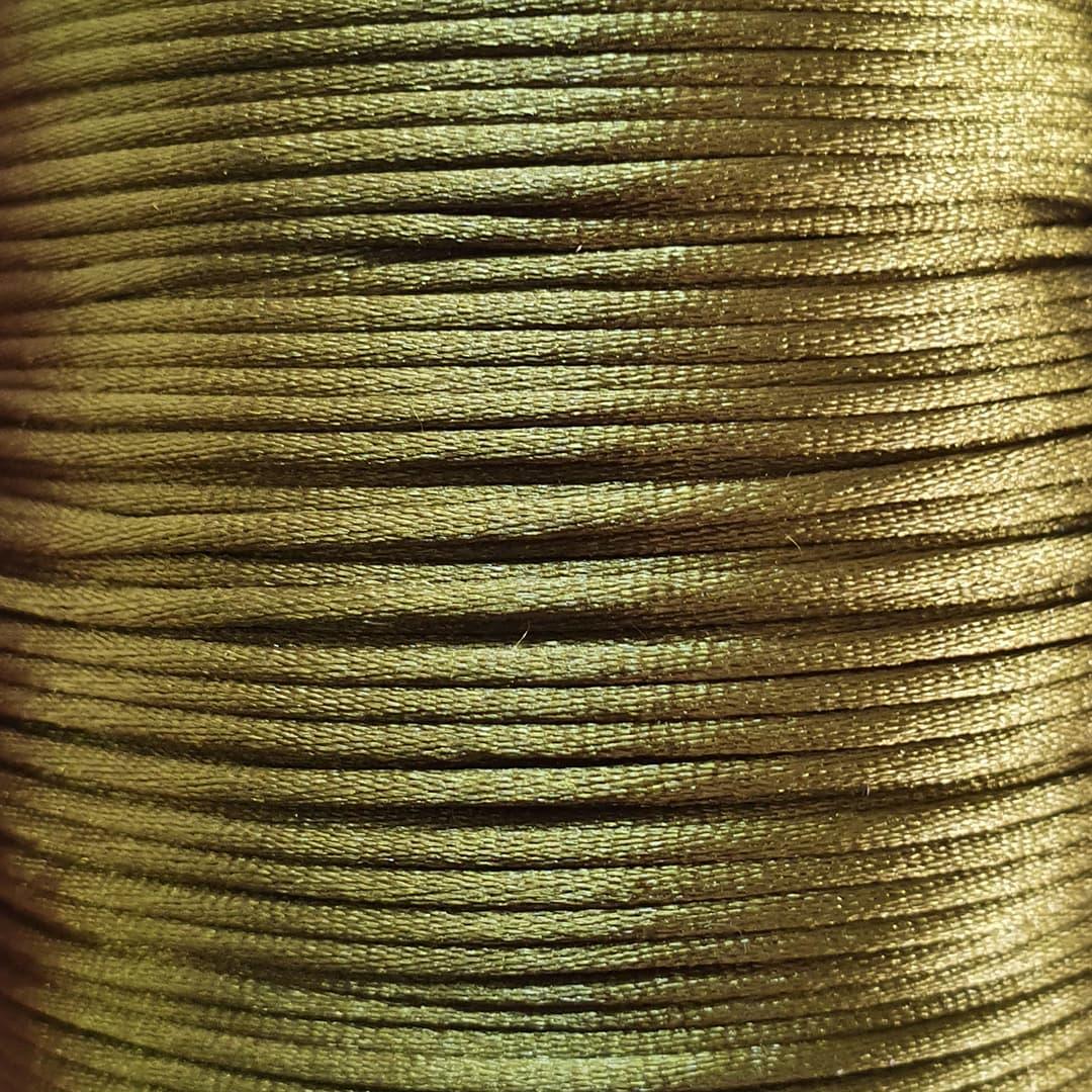 Fio de Seda 1mm 100mt (Verde Musgo)