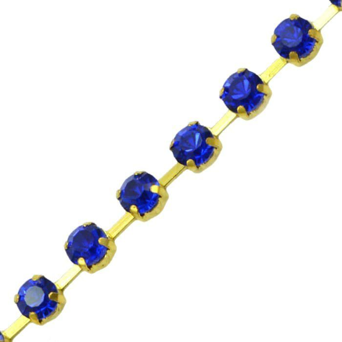 Fio Strass ss28 1m (Azul Royal)