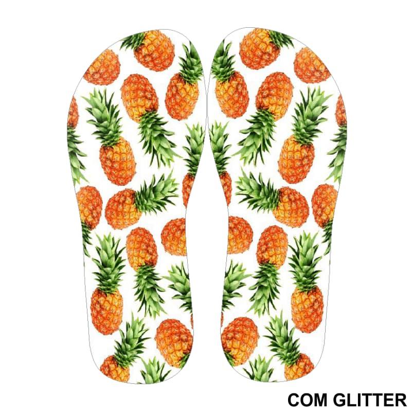 Lonita Sublimada Glitter - Abacaxis