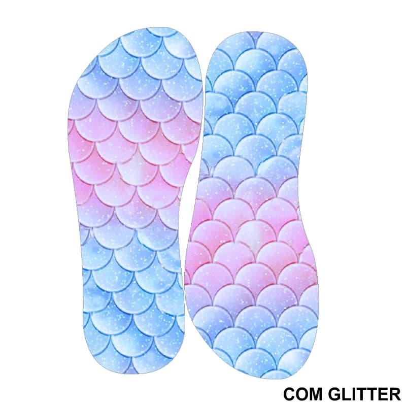 Lonita Sublimada Glitter - Escamas de Sereia