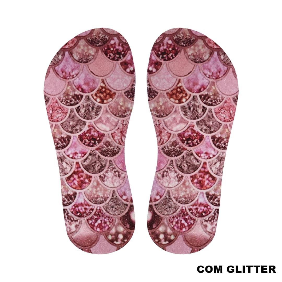 Lonita Sublimada Glitter - Escamas de Sereia Especial