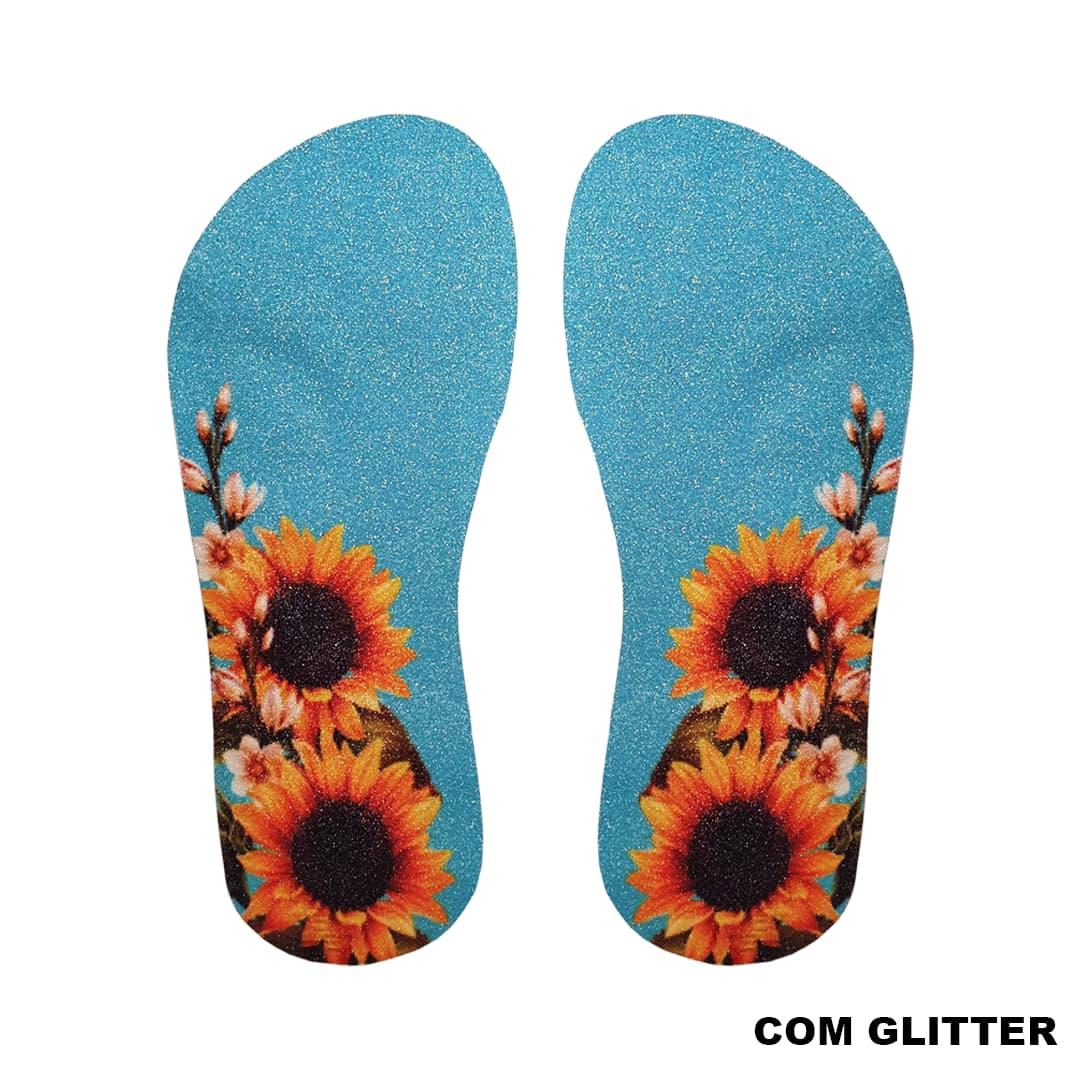 Lonita Sublimada Glitter - Girassol Especial