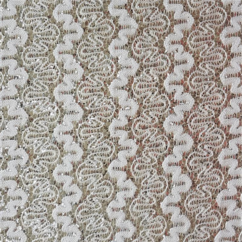 Lonita Tecido - Rendada Ondas (Branco)