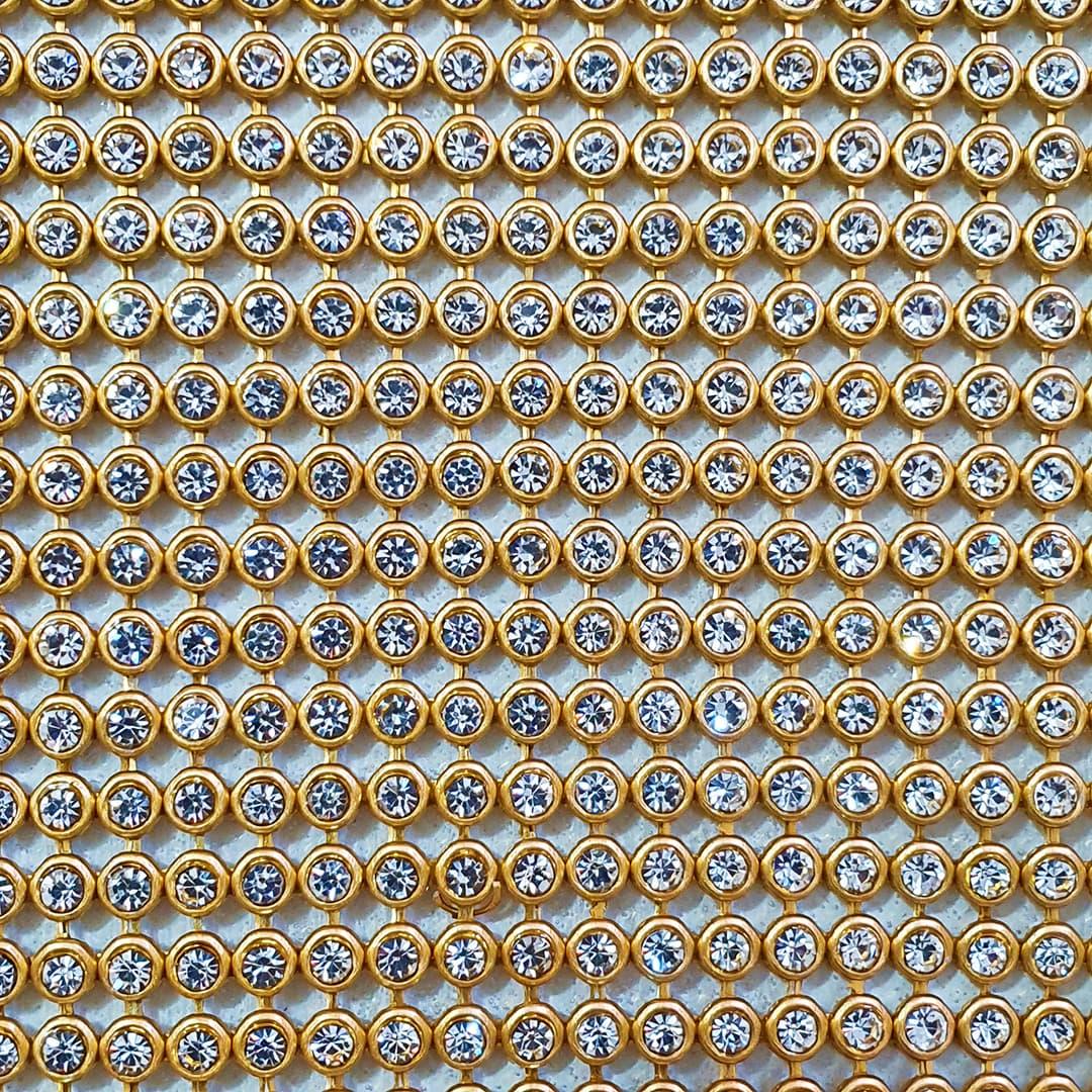Manta de Strass 5cm x 60cm (Dourado)