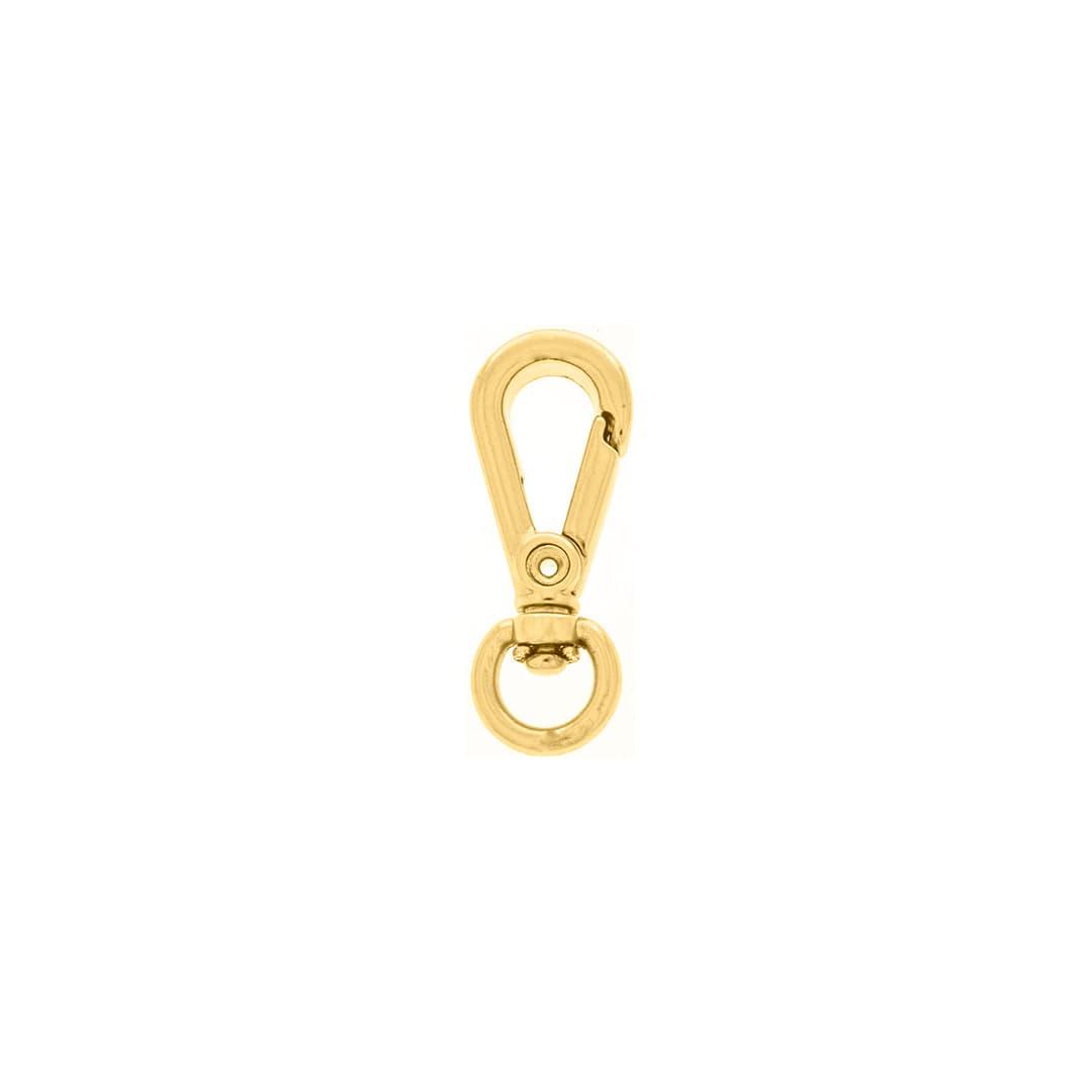 Mosquetão Metal 28mm (Dourado)