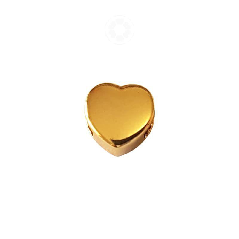 Passador Metal Coração 10mm (Dourado)