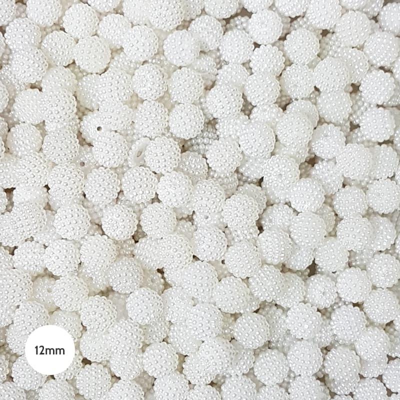 Pérola Craquelada ABS 12mm 100g (Branco)