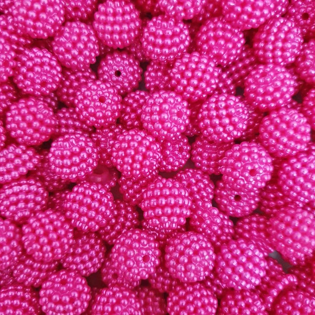 Pérola Craquelada ABS 12mm 50g (Pink)