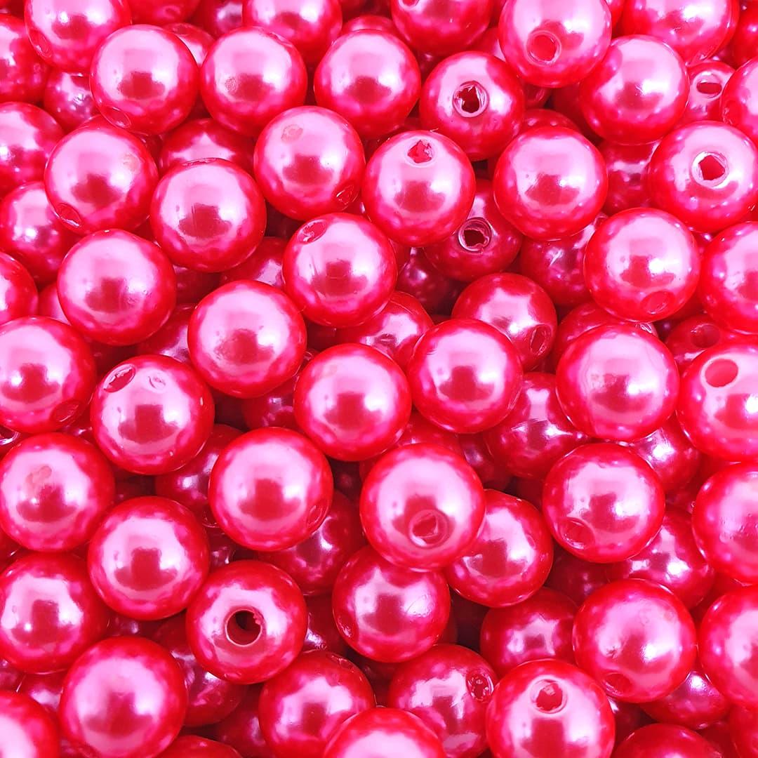 Pérola Inteira ABS 10mm 50g (Hot Pink)