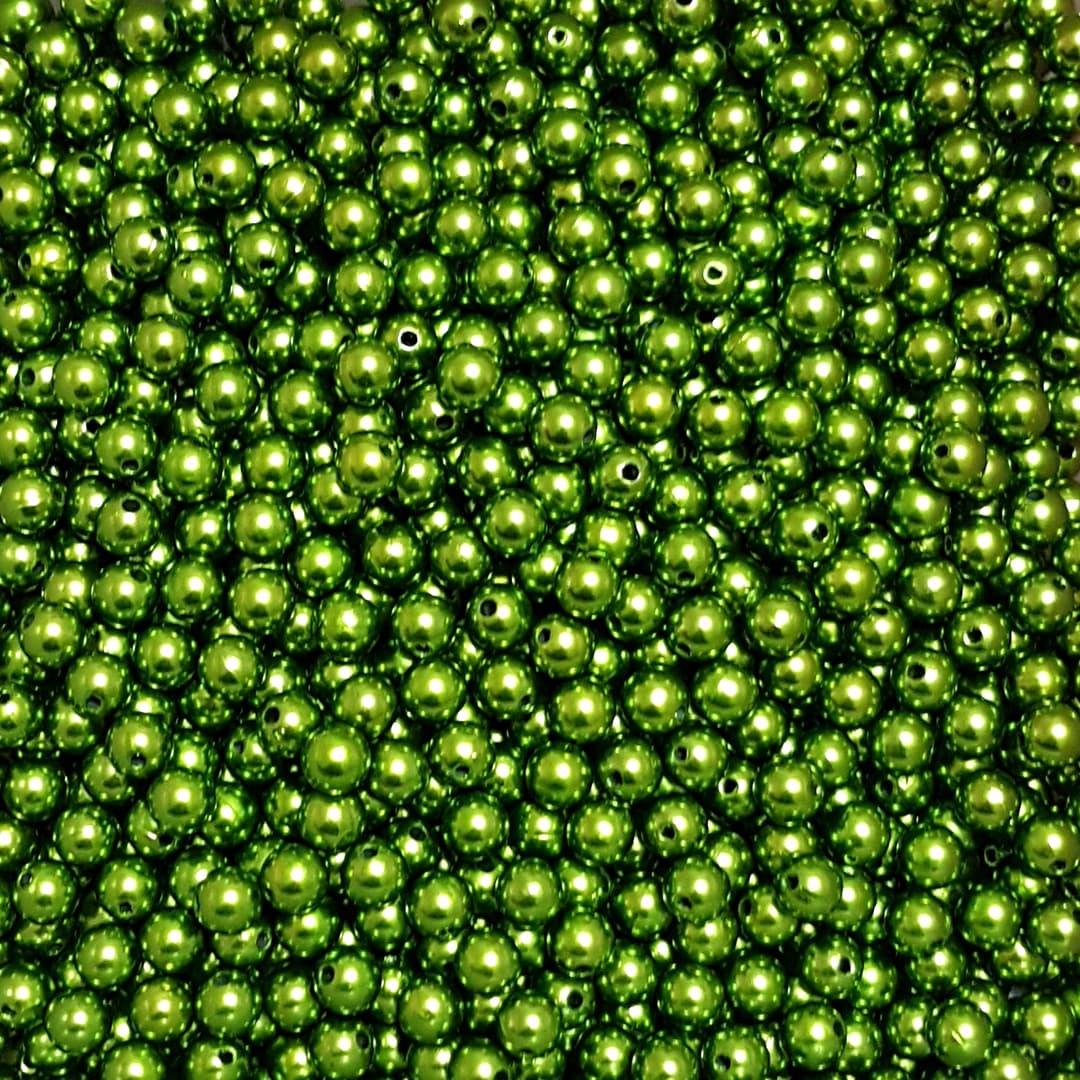 Pérola Inteira ABS 10mm 100g (Verde Musgo)