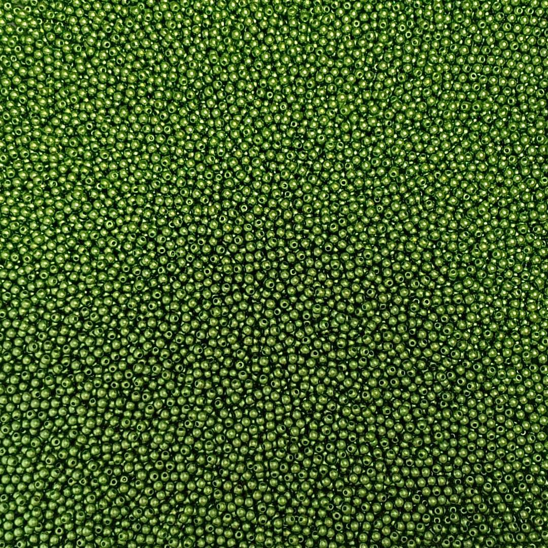 Pérola Inteira ABS 3mm 100g (Verde Musgo)