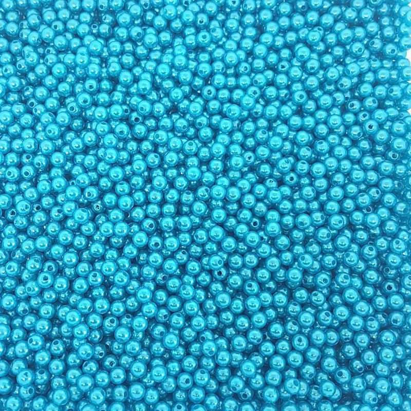 Pérola Inteira ABS 6mm 100g (Azul Água Doce)