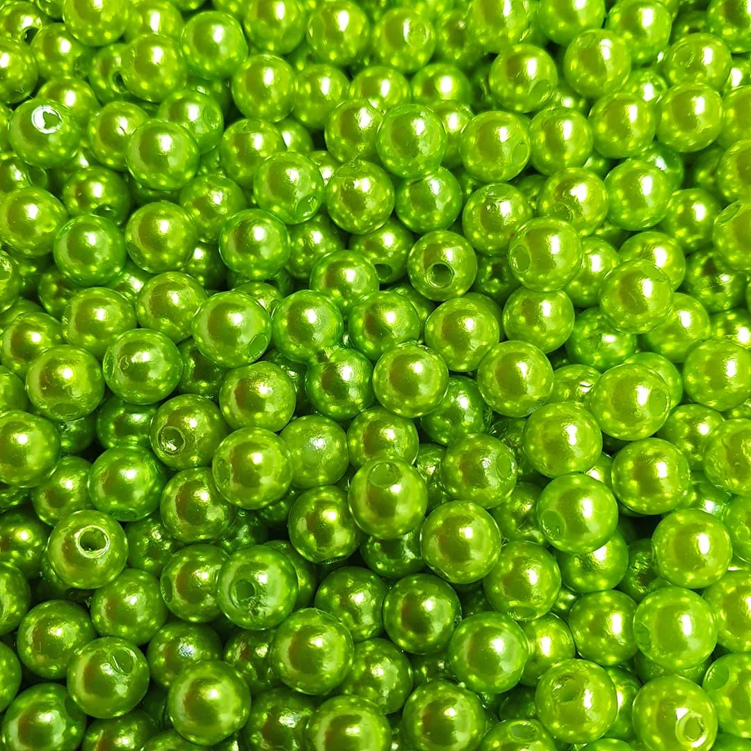 Pérola Inteira ABS 6mm 50g (Verde Limão)