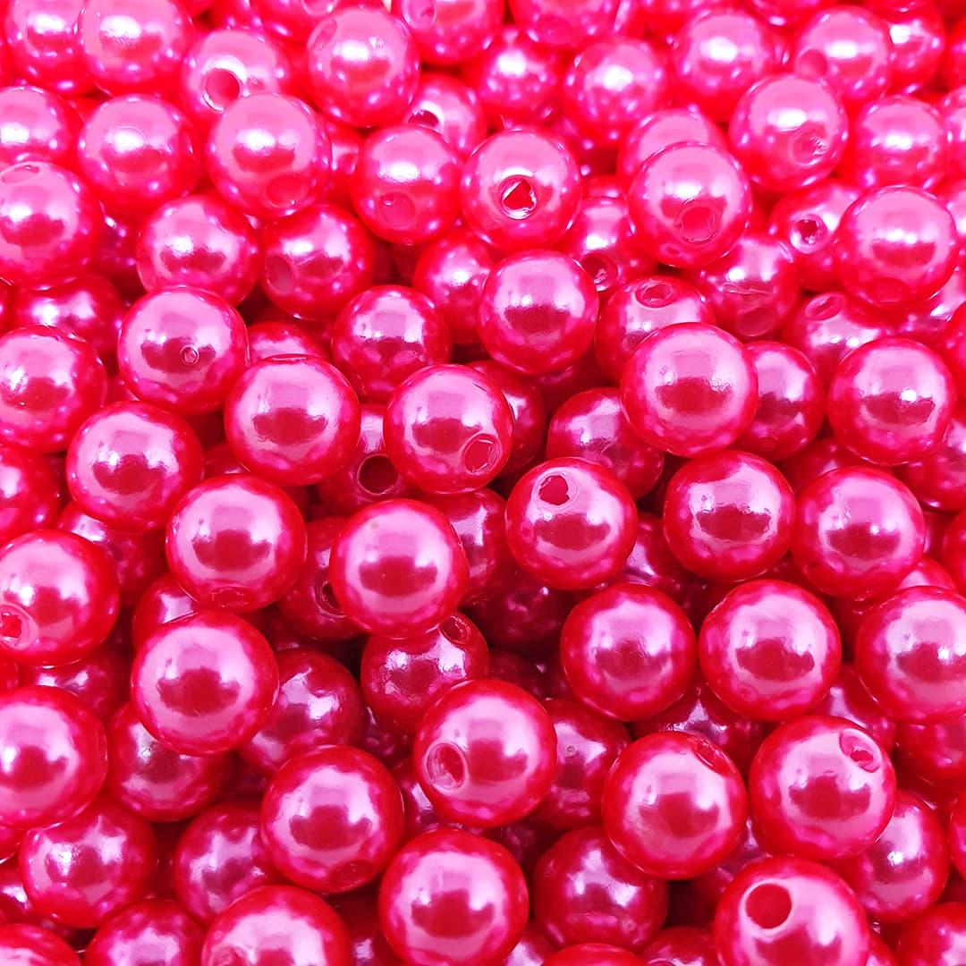 Pérola Inteira ABS 8mm 50g (Hot Pink)