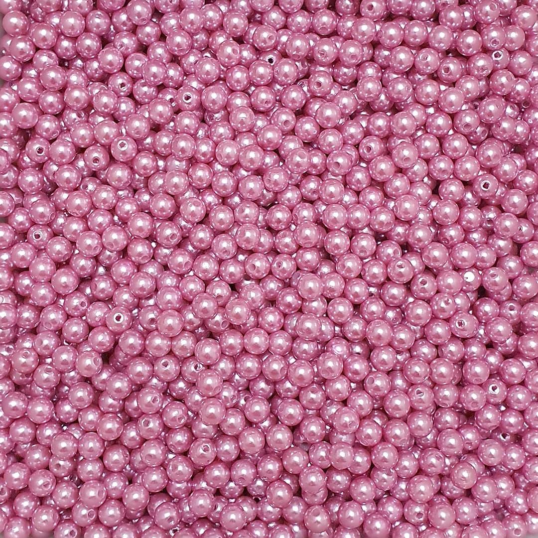 Pérola Inteira ABS 8mm 100g (Rosa Escuro)