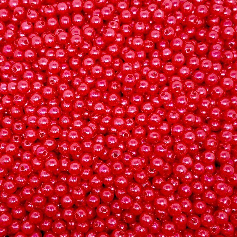 Pérola Inteira ABS 8mm 100g (Vermelho)